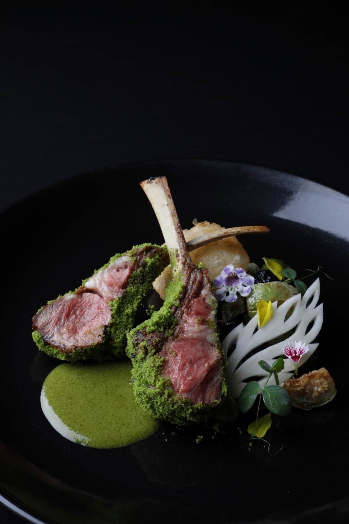 Lamb Rack with Green Curry